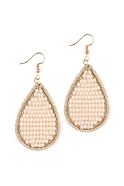 Riah Fashion Rondelle-Beads-Filled Teardrop Hook-Earring - Product Mini Image