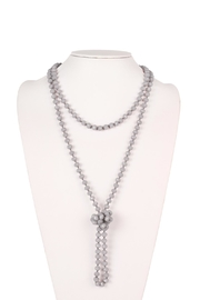 Riah Fashion Long-Knotted-Glass Beads-Necklace - Product Mini Image