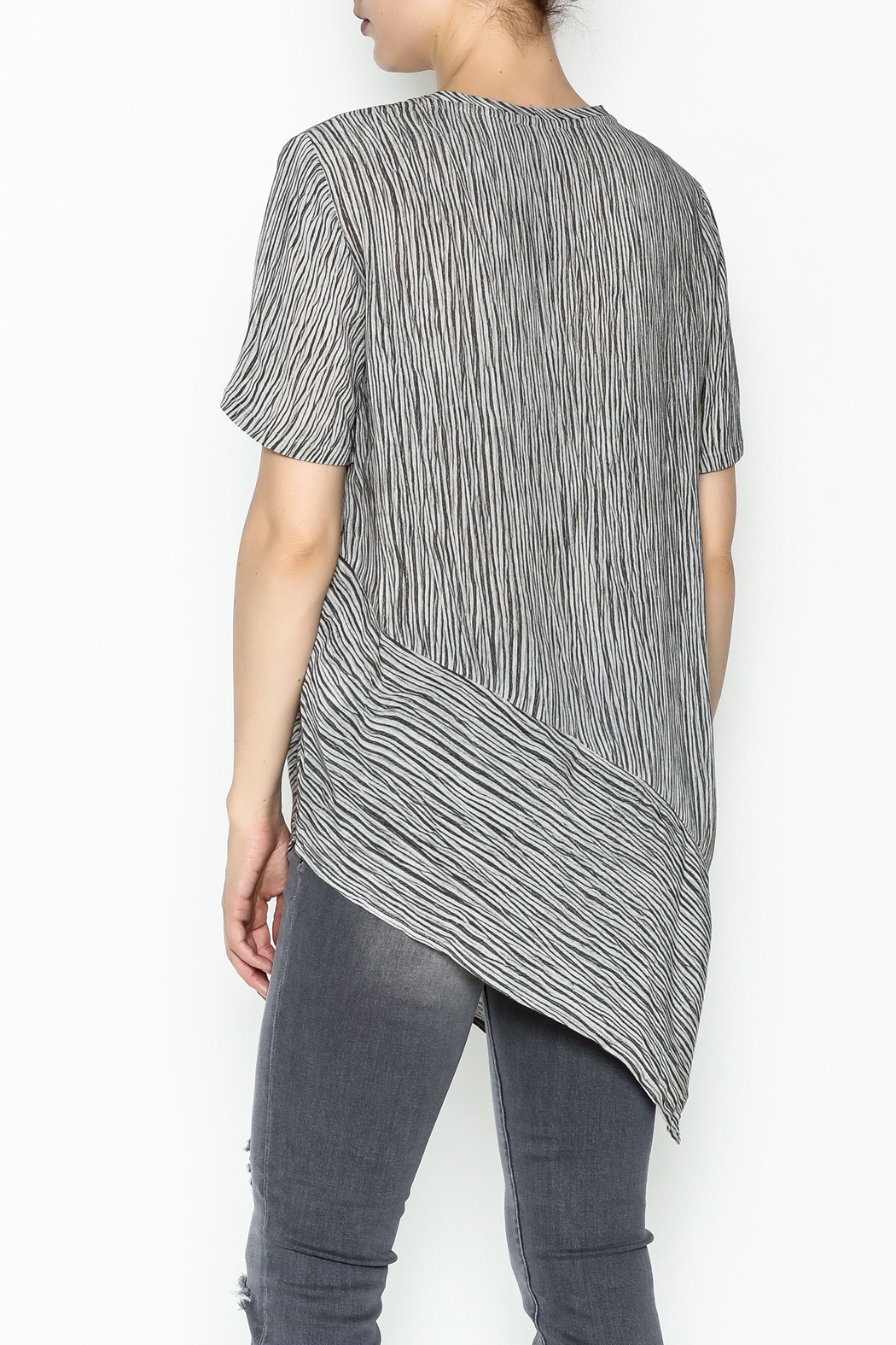 Ronen Chen Assymetrical Top - Back Cropped Image