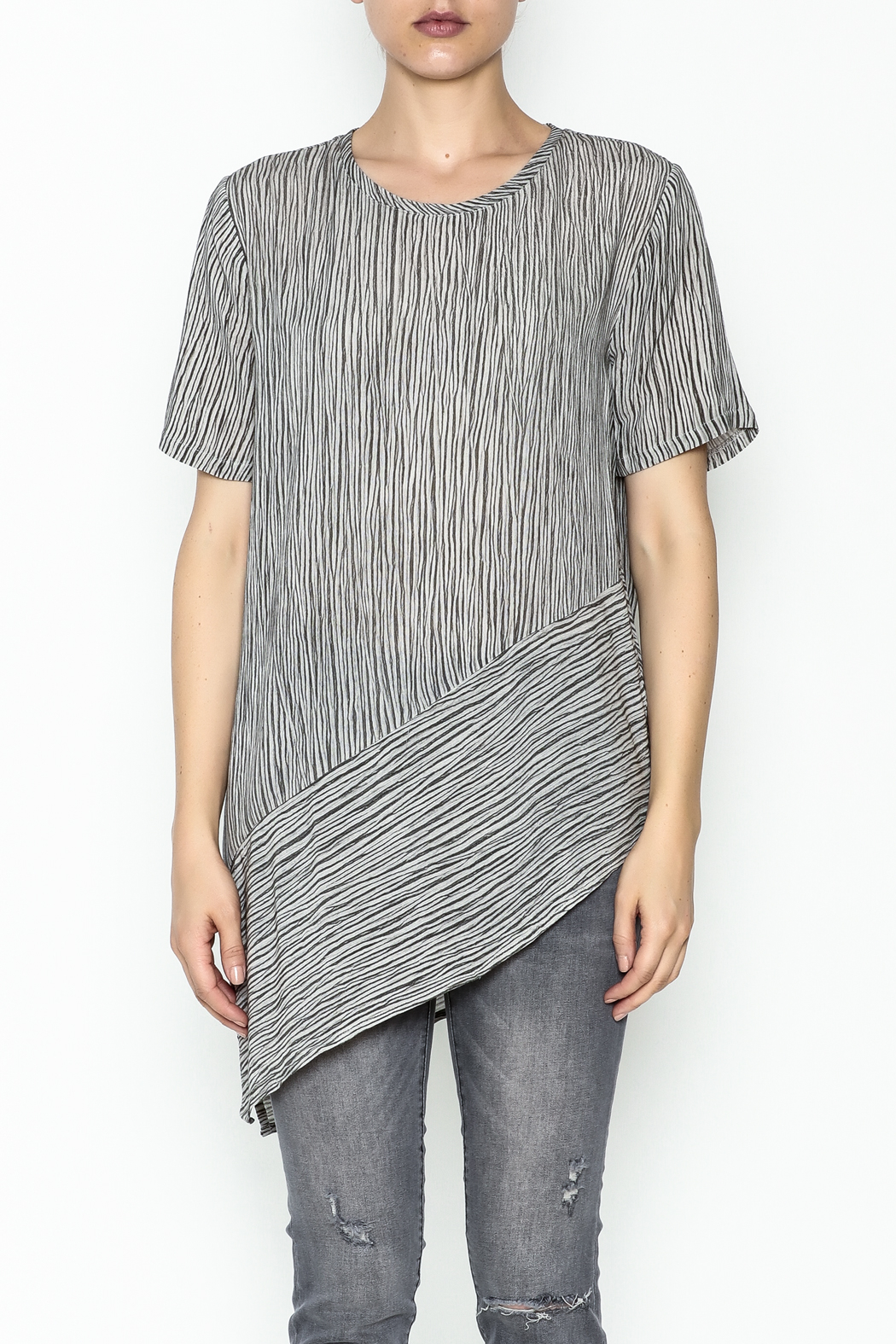 Ronen Chen Assymetrical Top - Front Full Image