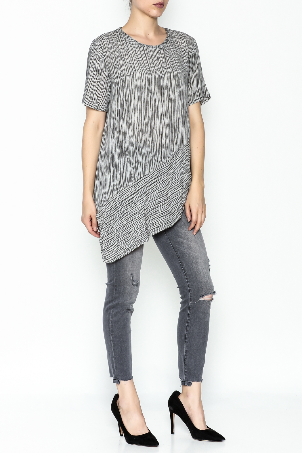 Ronen Chen Assymetrical Top - Side Cropped Image