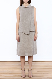 Ronen Chen Asymmetrical Linen Dress - Front cropped