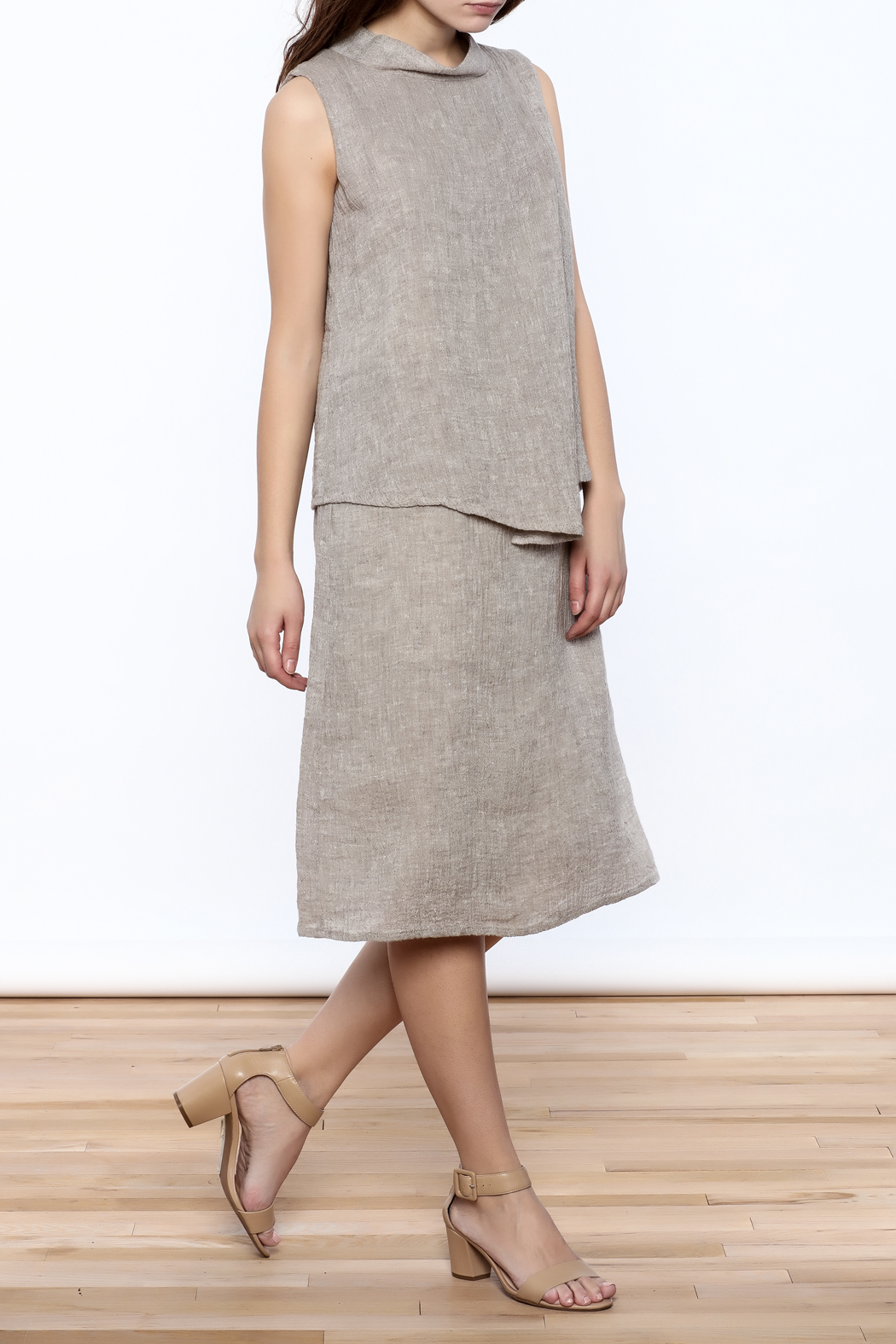 Ronen Chen Asymmetrical Linen Dress - Main Image