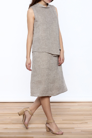 Ronen Chen Asymmetrical Linen Dress - Front full body