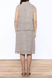 Ronen Chen Asymmetrical Linen Dress - Back cropped