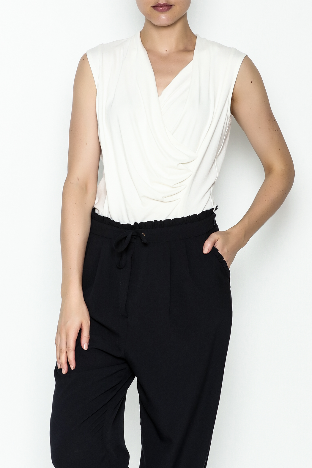 Ronen Chen Rio Wrap Tank Top - Front Cropped Image