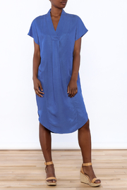 Ronen Chen Soft V Blue Dress - Product Mini Image
