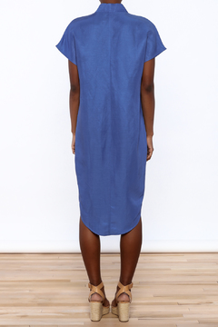 Ronen Chen Soft V Blue Dress - Alternate List Image