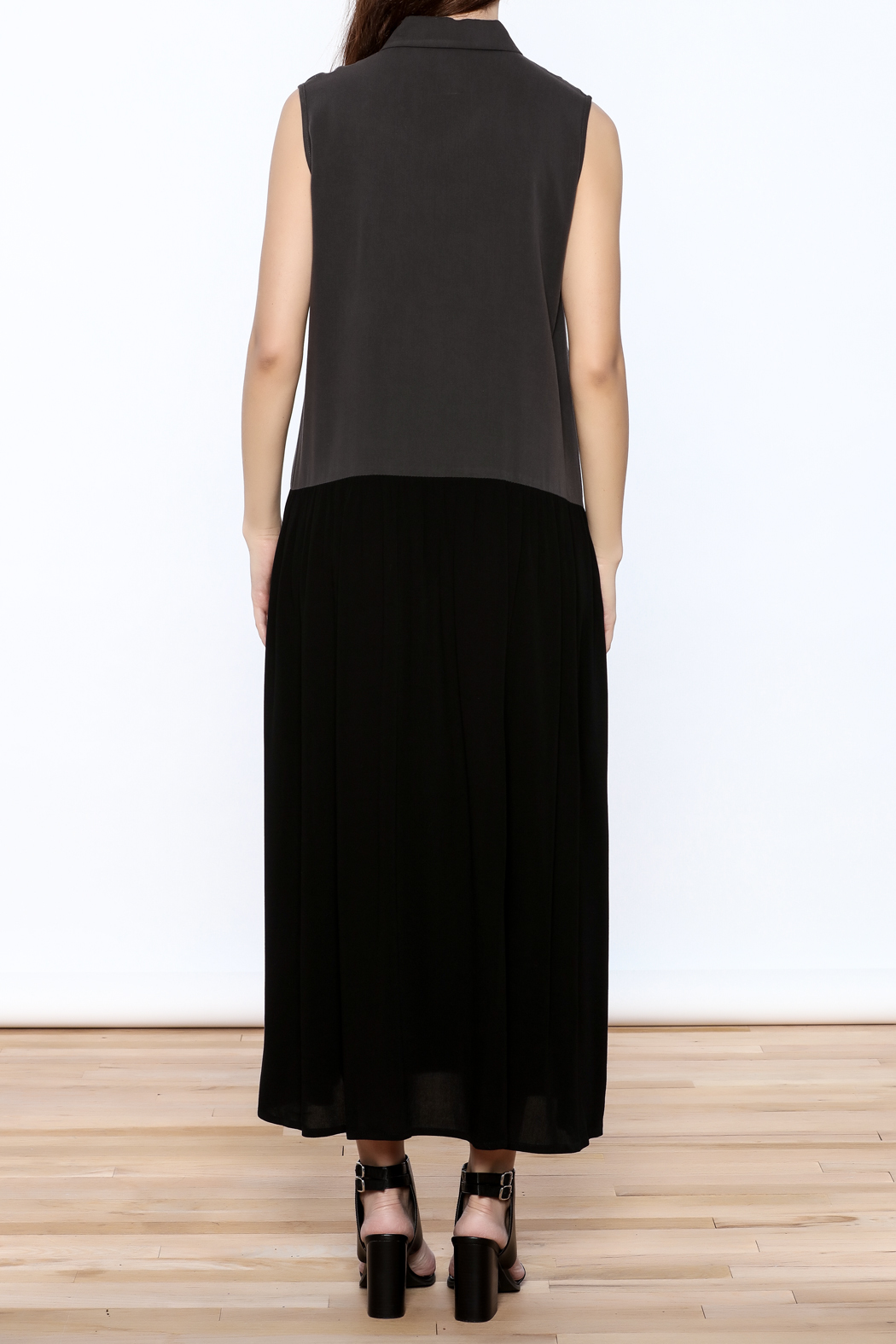 Ronen Chen Two Tone Dress - Back Cropped Image