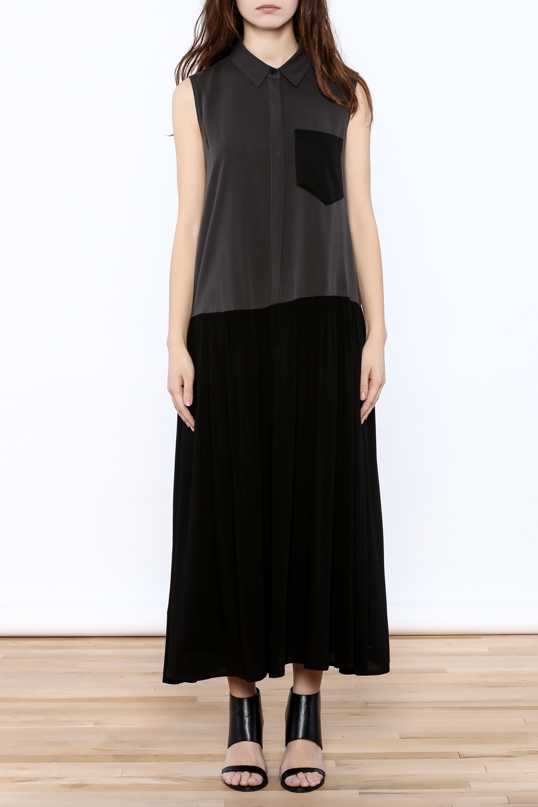 Ronen Chen Two Tone Dress - Front Cropped Image