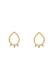 Bronwen Ronja Mixed Metal Earrings - Front cropped