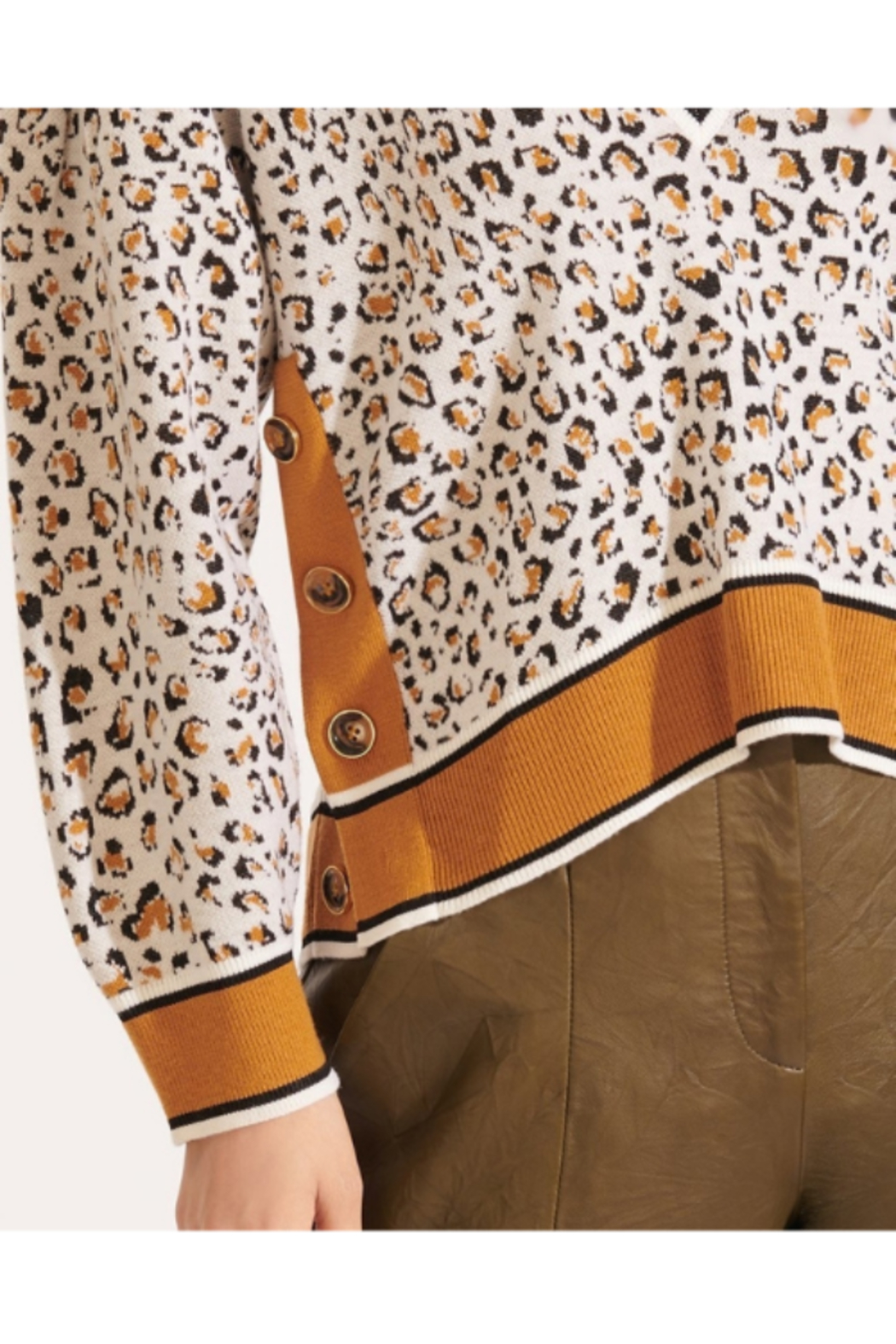 Veronica Beard Ronja Pullover - Side Cropped Image