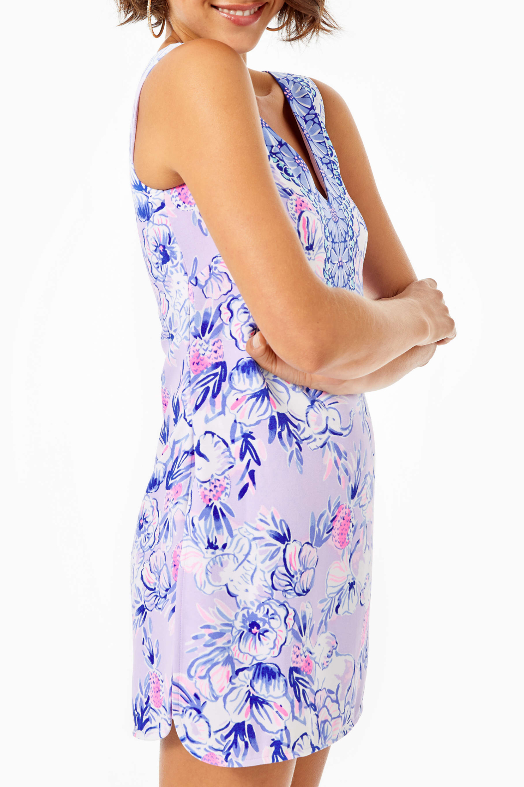 Lilly Pulitzer Ronnie Shift Romper - Side Cropped Image