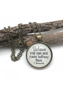 Never Lose Hope Designs Roosevelt Quote Necklace - Alternate List Image