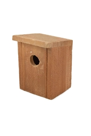 Roost Wooden Birdhouse Small - Front cropped