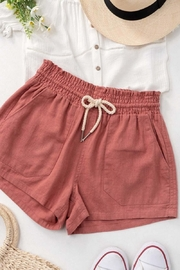 Trend:notes Rope Drawstring Linen Shorts - Product Mini Image