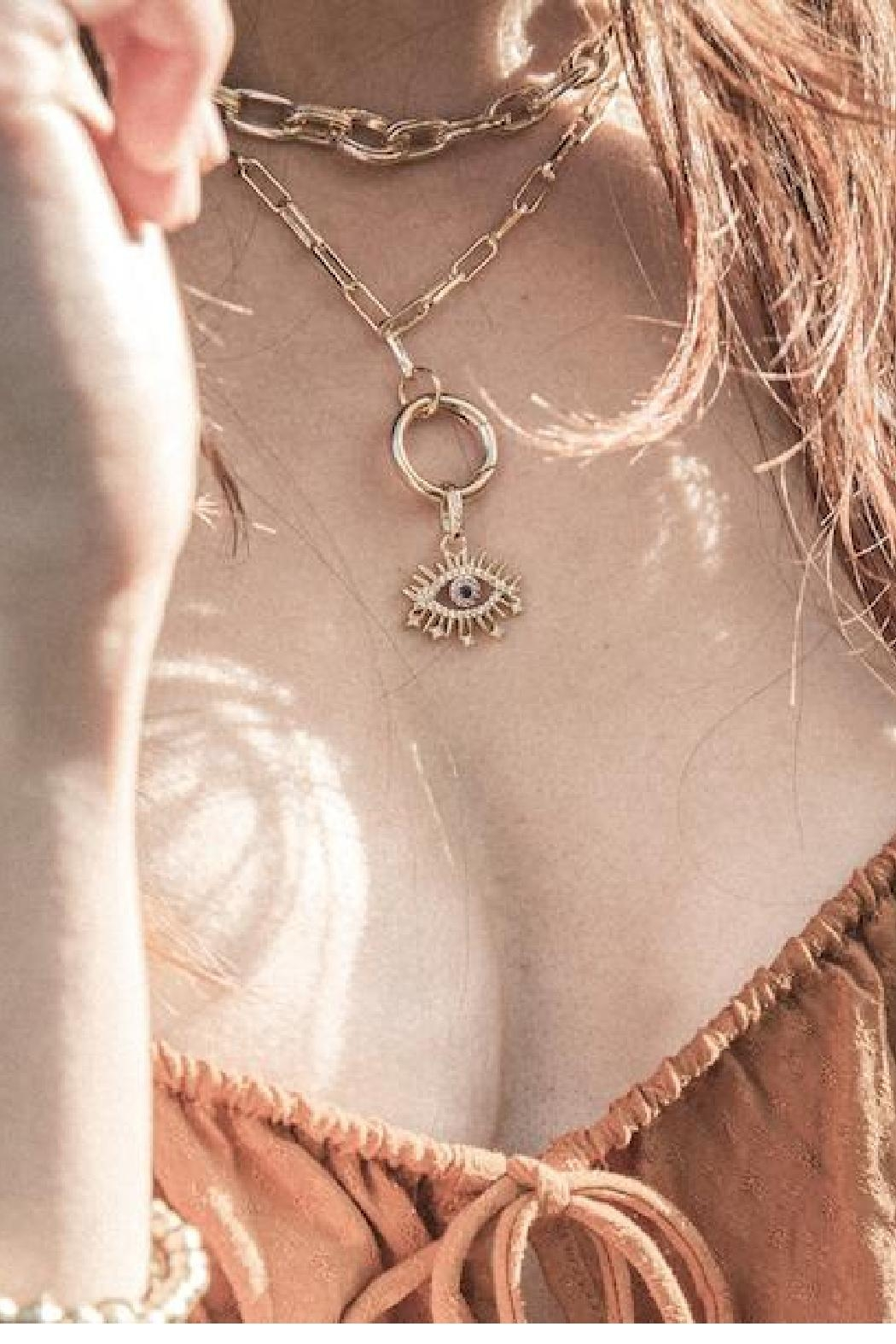 Rope the Moon Fortune Teller Necklace - Side Cropped Image