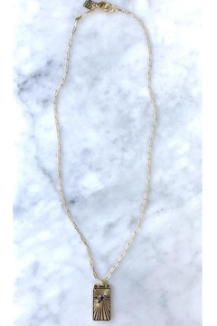 Rope the Moon Gold Solitaire Necklace - Product List Image