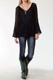 Roper Black Embroidered Blouse - Front cropped