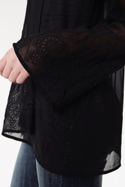 Roper Black Embroidered Blouse - Side cropped