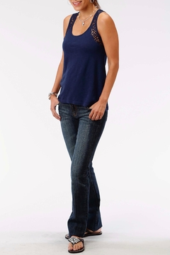 Roper Navy Lace Tank - Product List Image