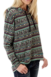 Roper Tribal Relaxed Hooded Sweater - Product Mini Image