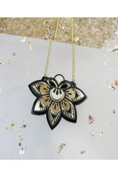 Rosa Pietsch Petal Flower Pendants - Alternate List Image