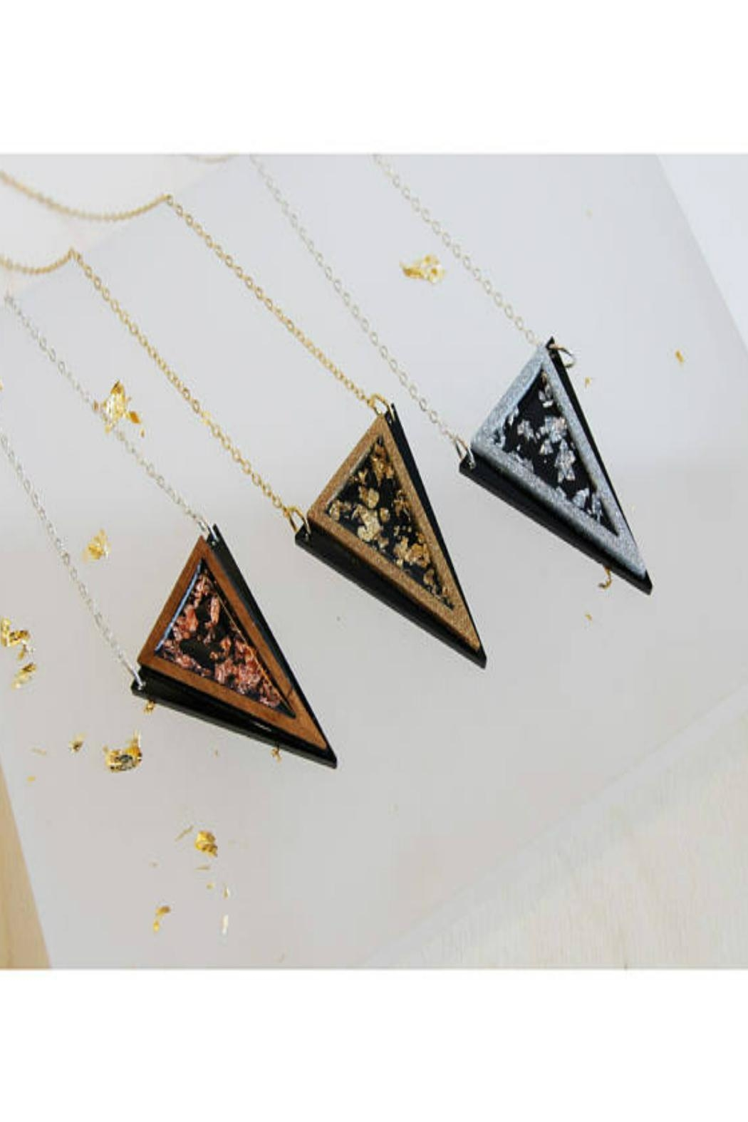 Rosa Pietsch Triangle Pendant Necklaces - Front Full Image