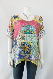 Johnny Was Collection Rosalina Silk Top - Product Mini Image