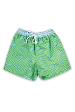 Shoptiques Product: Whales Gingham Swim Trunk