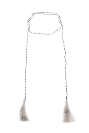 Rosamariposa Lariat Tassel Necklace - Front cropped