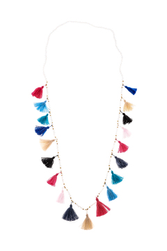 Shoptiques Product: Colorful Tassel Necklace