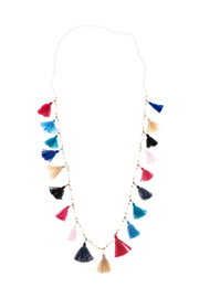 Rosamariposa Colorful Tassel Necklace - Product Mini Image