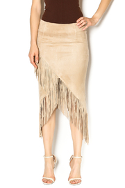 Shoptiques Product: Feel The Fringe Skirt - Front cropped