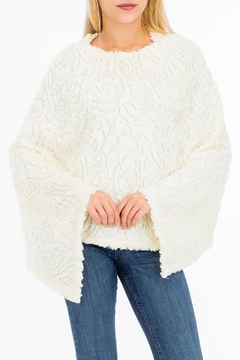 Cap Zone Rose Accent Poncho - Product List Image