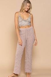 POL  Rose Beige Long Pants in Chenille Sweater - Product Mini Image
