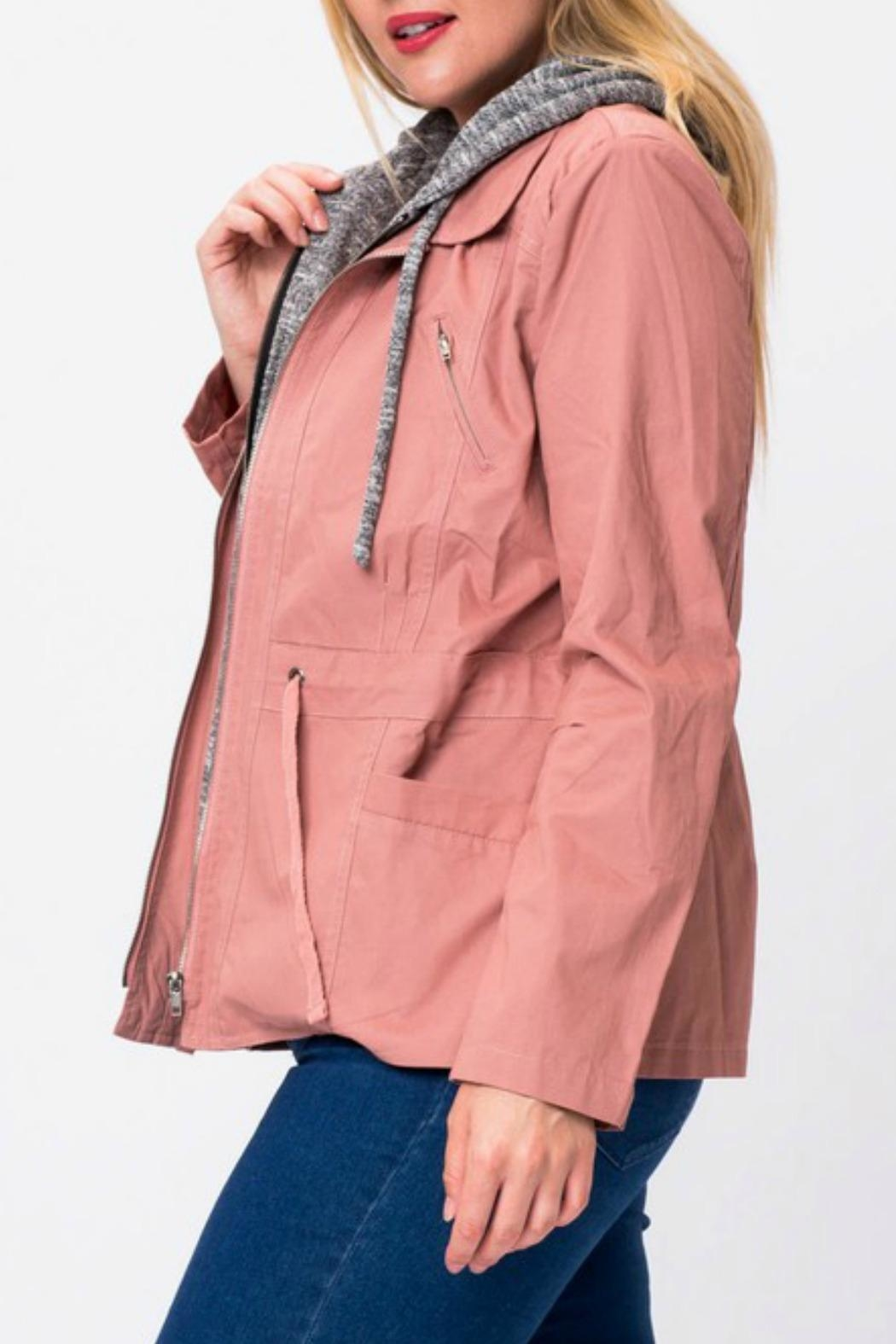 Love Tree Rose Cargo Jacket - Side Cropped Image