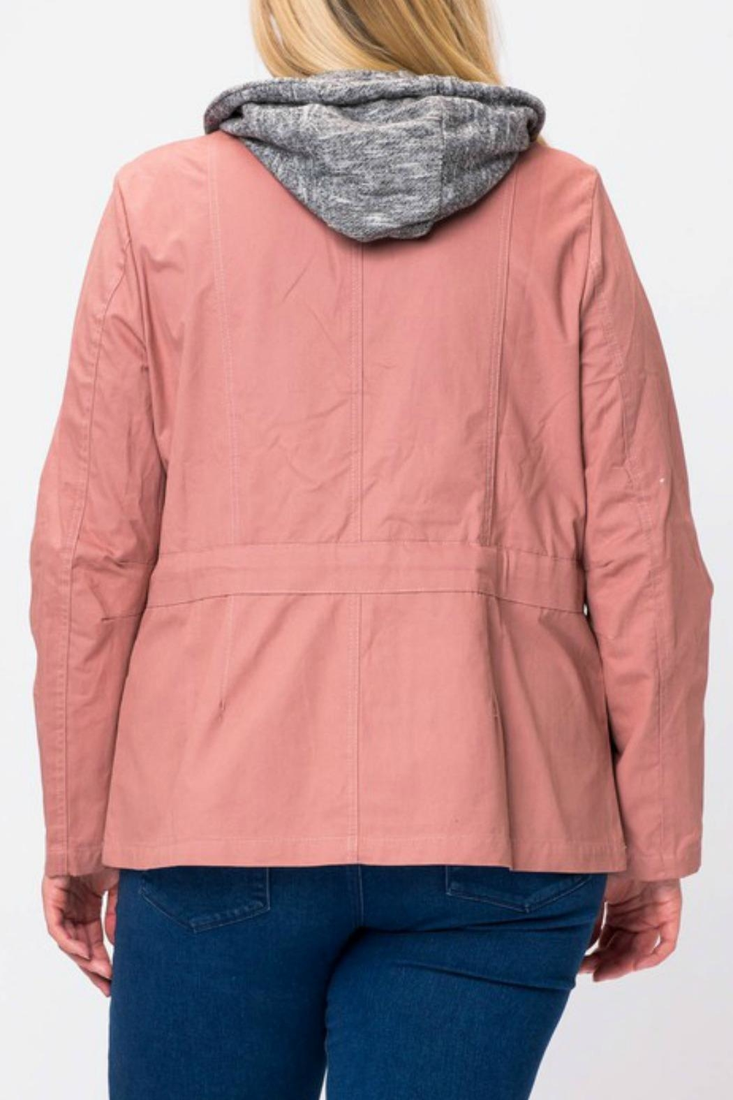 Love Tree Rose Cargo Jacket - Front Full Image
