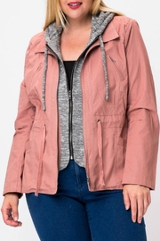 Love Tree Rose Cargo Jacket - Front cropped