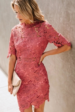 Shoptiques Product: Rose Crochet Overlay