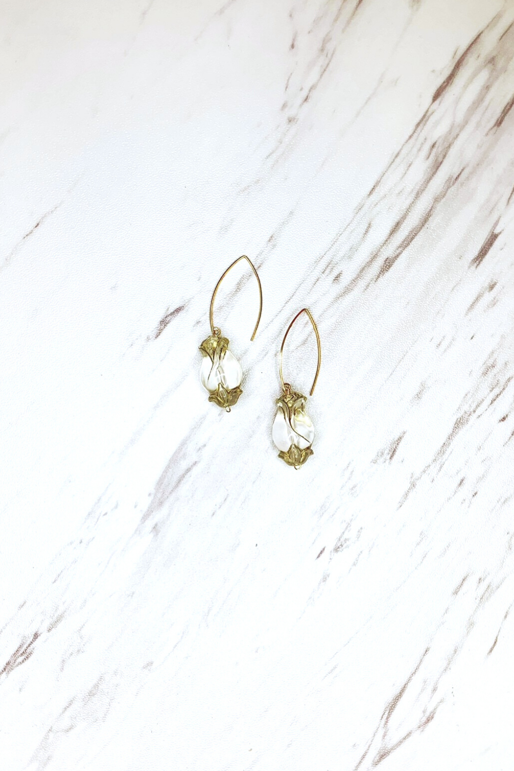 Top Shelf Jewelry Rose Crystal Florette earrings - Front Cropped Image