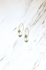 Top Shelf Jewelry Rose Crystal Florette earrings - Front cropped