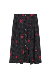 Bio Rose Dot Skirt - Front cropped