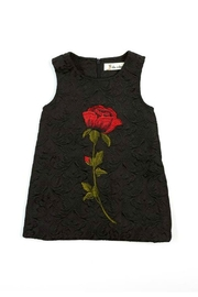 Doe a Dear Rose-Embroidered A-Line Dress - Front cropped