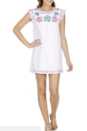 Joy Joy Rose Embroidered Dress - Product Mini Image