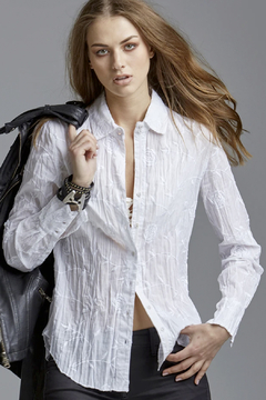 cino Rose Embroidery Button Up - Alternate List Image