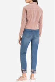 Tribal Jeans Rose embroidery cuff jean - Front full body