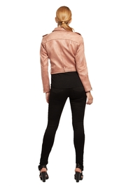 Dex Rose Faux-Suede Moto-Jacket - Side cropped