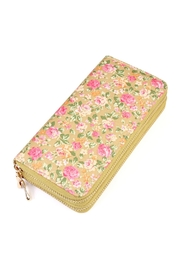 Riah Fashion Rose Floral Wallet - Front cropped