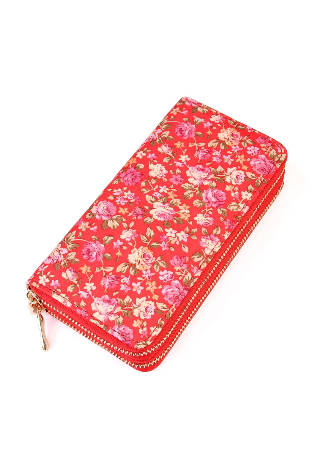 Riah Fashion Rose Floral Wallet - Front Cropped Image